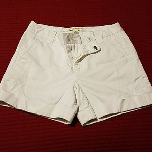 Banana Republic white shorts size 0